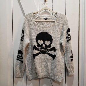 Torrid skull gray black sweater 1x